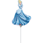 Mini Shape Cinderella Foil Balloon A30 Bulk