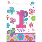 8 Loot Bags Sweet Birthday Girl