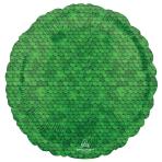 Standard Forest Green Sequins Foil Balloon S18 Packaged