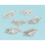 6 Tiaras Princess Metallic Plastic 10.2 x 4.9 x 5.7 cm