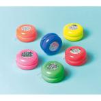 12 Yo-Yos Laser Plastic 3.5 x 3.5 x 1.6 cm
