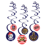 6 Swirl Decoration Pirates Map