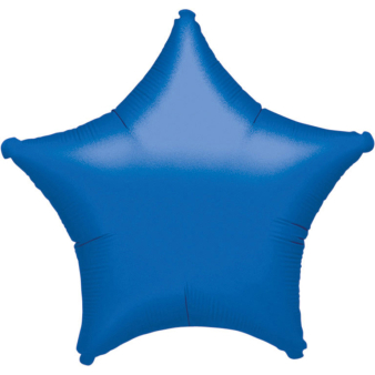 "Standard ""Metallic Blue"" Foil Balloon Star, S15, packed, 48cm"