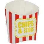 Chips & Sticks Box Paper Red   Sripes