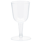 20 Mini Wine Glasses Plastic Clear 73 ml