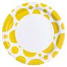 8 Plates Sunshine Yellow Dots Paper Round 22.8 cm