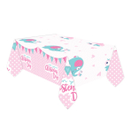 Tablecover Christening Pink Plastic 120 x 180 cm