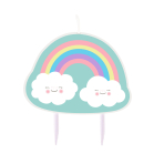 Character Candle Rainbow & Cloud Height 8.5 cm