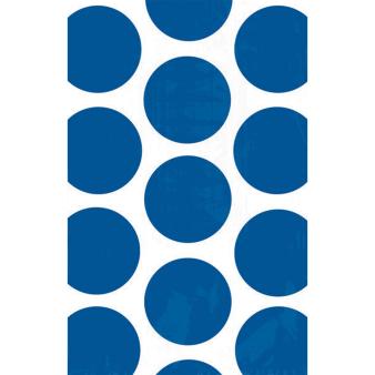 10 Paper Treat Bags Polka Dot Bright Royal Blue 11.3 x 17.7 cm