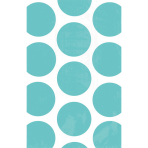10 Paper Bags Polka Dots Robin's Egg Blue 11.3 x 17.7 cm