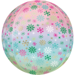 Orbz Ombré Snowflakes Foil Balloon, G20 packaged