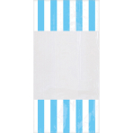 10 Party Bags Stripes Caribbean Blue Plastic 24.8 x 12.8 cm