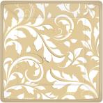 8 Plates Gold Anniversary 17.7cm