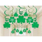 30 Swirl Decorations St. Patrick Foil / Paper 61 cm