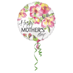 Standard rund Mother's Day Painterly Foil Balloon S40 packaged