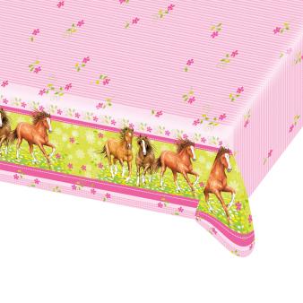 Tablecover Charming Horses Plastic 120 x 180 cm