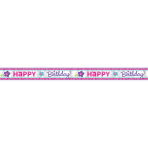 Foil Banner Birthday Accessories - Pink & Teal 762 cm