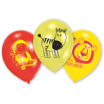 6 Latex Balloons Safari 22.8 cm/9''