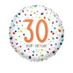 Standard EU Confetti Bday 30 Foil Balloon S40 packaged