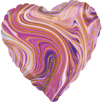 Standard Marblez Purple Heart Foil Balloon S18 Packaged