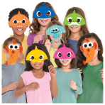 8 Masks Baby Shark Paper
