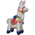 Multi Standing Llama Foil Balloon A75 Packaged