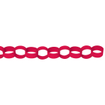 Chain Link Garland Red 390 cm