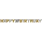 Letter Banner 30 Sparkling Celebration Gold Foil 213 x 16.2 cm