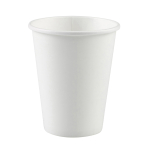 8 Cups Frosty White Paper 250 ml