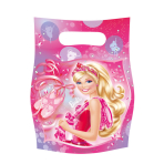 6 Loot Bags Barbie Pink Shoes