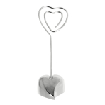 Placecard Holder Loving Heart Metal 8.2 cm