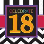 16 Napkins Chevron Birthday 1833 x 33 cm