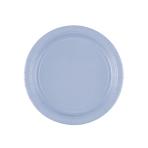 8 Plates Paper Pastel Blue 17.7cm