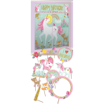 Scene Setter Kit & Photo Props Magical Unicorn Plastic 17 Pieces 25.4 - 149.8 cm