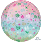 Orbz Ombré Snowflakes Foil Balloon, G20 packaged