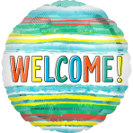 Standard Welcome Watercolor Stripe Foil Balloon S40 packaged