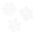 20 Cutouts Snowflake Glitter Paper 29.2 cm / 19 cm / 12.7 cm