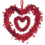Decorative Tinsel Heart 30 cm