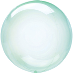 Clearz Crystal Green Foil Balloon S40 Packaged