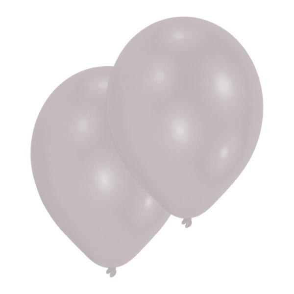 d36e397d700ee 50 Latex Balloons Metallic silver 27.5cm 11
