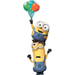"Multi-Ballon ""Minions Stacker"" Foil Balloon , P75, packed, 101 x 154cm"