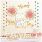 Decoration Kit Confetti Fun Paper / Foil 12 Pieces 213 cm / 25.4 - 36.8 cm