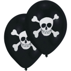 """8 Latex Balloons Pirate 2-Sided 25.4 cm / 10"""""""