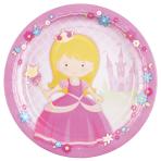 8 Plates My Princess Paper Round 22.8 cm