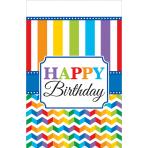 Tablecover Bright Birthday Plastic 137 x 243 cm