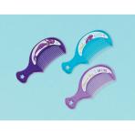 12 Hair Combs Mermaid Wishes Plastic 9.3 x 3.9 cm