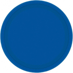 20 Plates Bright Royal Blue Paper Round 17.7 cm