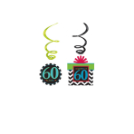 12 Swirl Decorations Chevron Birthday 60