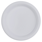 10 Plates Plastic Clear 17.7cm