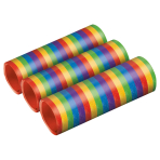 3 Streamers Bright Rainbow Metallic Paper 0.7 x 400 cm